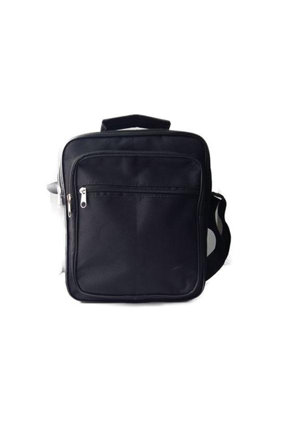 СумкаДеловые<br>Удобная и вместительная мужская сумка.  Размеры: 23*28*9 см  Цвет: черный<br><br>Размер : UNI<br>Материал: Полиэстер<br>Количество в наличии: 1