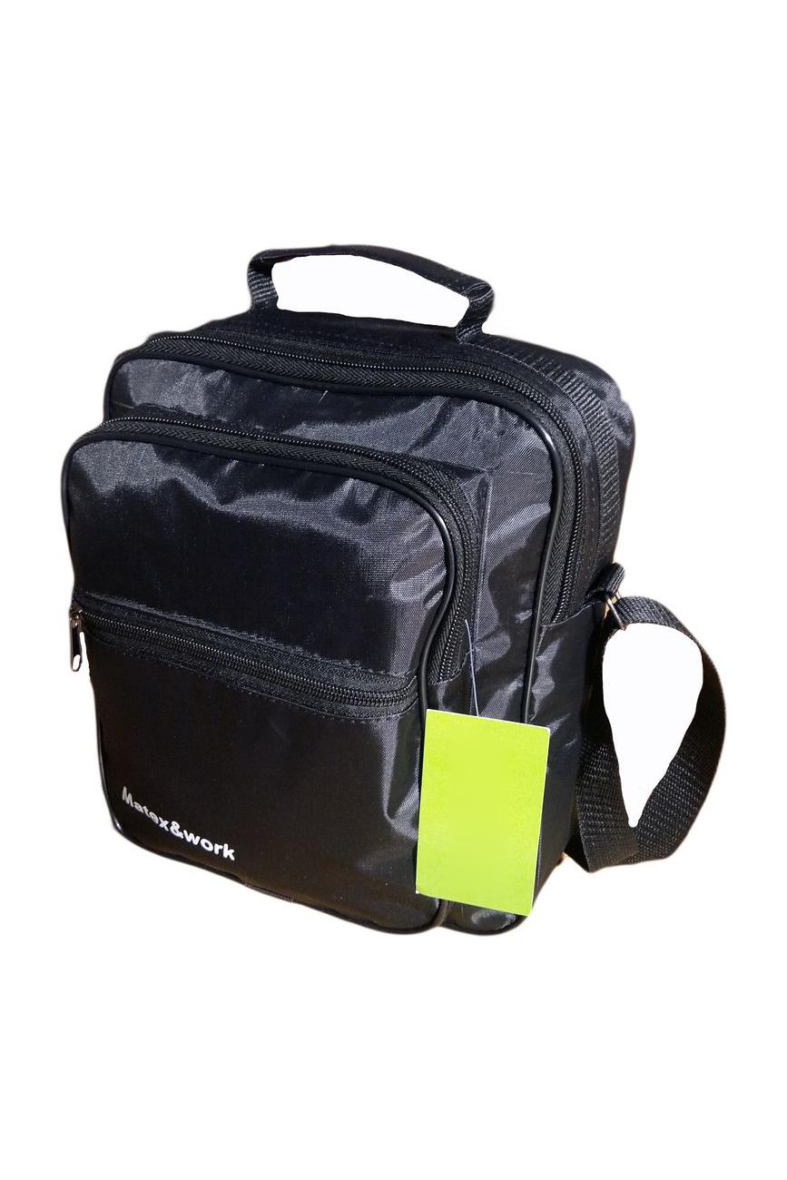 СумкаДеловые<br>Удобная и вместительная мужская сумка.  Размеры: 20*9*26 см  Цвет: черный<br><br>Размер : UNI<br>Материал: Полиэстер<br>Количество в наличии: 1