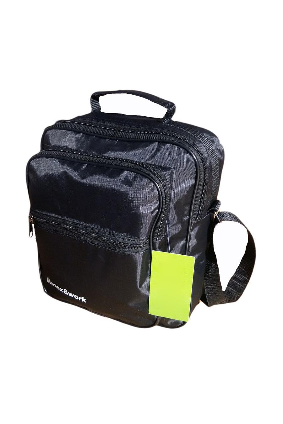 СумкаДеловые<br>Удобная и вместительная мужская сумка.  Размеры: 23*9*28 см  Цвет: черный<br><br>Размер : UNI<br>Материал: Полиэстер<br>Количество в наличии: 2