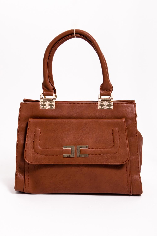 Классическая сумкаКлассические<br>Женская сумка из искусственной кожи.  Размеры: длина 37 см высота 25 см ширина 14 см  Цвет: коричневый<br><br>По материалу: Искусственная кожа<br>По размеру: Средние<br>По рисунку: Однотонные<br>По степени жесткости: Полужесткие<br>По типу застежки: С застежкой молнией<br>По элементам: Карман на молнии,Карман под телефон<br>Ручки: Короткие<br>По форме: Прямоугольные<br>Размер : UNI<br>Материал: Искусственная кожа<br>Количество в наличии: 1