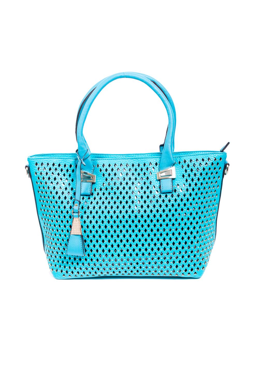 СумкаКлассические<br>Красивая, удобная и вместительная сумка станет отличной помощницей.  Цвет: голубой  Размер:  длина 33 см высота 28 см ширина 13 см<br><br>По материалу: Искусственная кожа<br>По рисунку: Однотонные,Цветные<br>По силуэту стенок: Прямоугольные<br>По способу ношения: В руках<br>По степени жесткости: Полужесткие<br>По типу застежки: С застежкой молнией<br>Ручки: Короткие<br>Размер : UNI<br>Материал: Искусственная кожа<br>Количество в наличии: 1