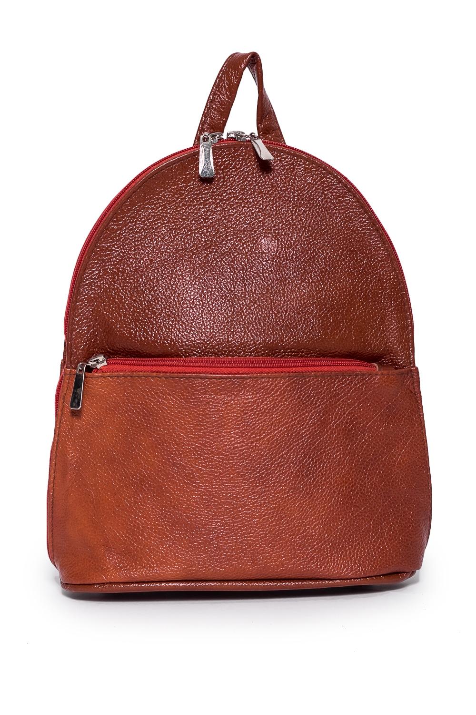 РюкзакРюкзаки<br>Удобный и вместительный женский рюкзак. В рюкзаке одно отделение, 1 карман на замке, 1 карман маленький.  Состав: верх - натуральная кожа Крс 100 %, подклад - полиэстер  Размеры: 11*19*24 см  Цвет: коричневый<br><br>Отделения: 1 отделение<br>По материалу: Натуральная кожа<br>По размеру: Средние<br>По рисунку: Однотонные<br>По способу ношения: В руках,На плечо<br>По типу застежки: С застежкой молнией<br>По элементам: Карман на молнии<br>Ручки: Плечевые<br>По форме: Круглые<br>Размер : UNI<br>Материал: Натуральная кожа<br>Количество в наличии: 1