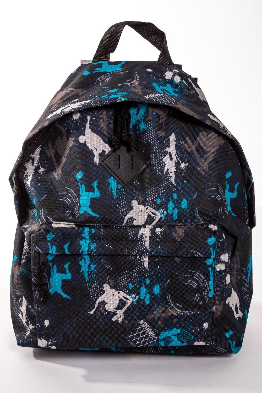 РюкзакРюкзаки<br>Модный рюкзак для активного отдыха или занятий спортом из качественных ярких материалов. Одно основное отделение на двухсторонней молнии. Снаружи передний карман на молнии, удобные лямки и ручка.  Размеры: 31,5*40*13 см  Цвет: синий, серый, белый, голубой, черный<br><br>Размер : UNI<br>Материал: Полиэстер<br>Количество в наличии: 4