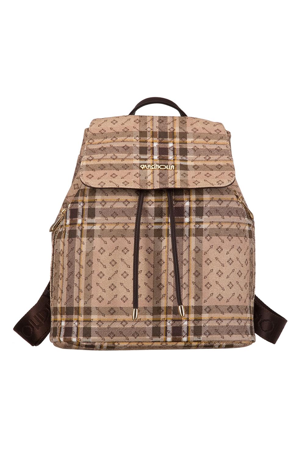 РюкзакРюкзаки<br>Удобный и вместительный сумка-рюкзак  Цвет: бежевый, коричневый  Размер:  длина 29 см высота 33 см ширина 14 см<br><br>По материалу: Искусственная кожа<br>По образу: Город<br>По рисунку: Цветные,С принтом,В клетку<br>По силуэту стенок: Трапециевидные<br>По степени жесткости: Полужесткие<br>По типу застежки: С застежкой молнией,С клапаном<br>По элементам: Карман под телефон<br>Ручки: Плечевые,Широкие<br>Отделения: 1 отделение<br>Размер : UNI<br>Материал: Искусственная кожа<br>Количество в наличии: 1