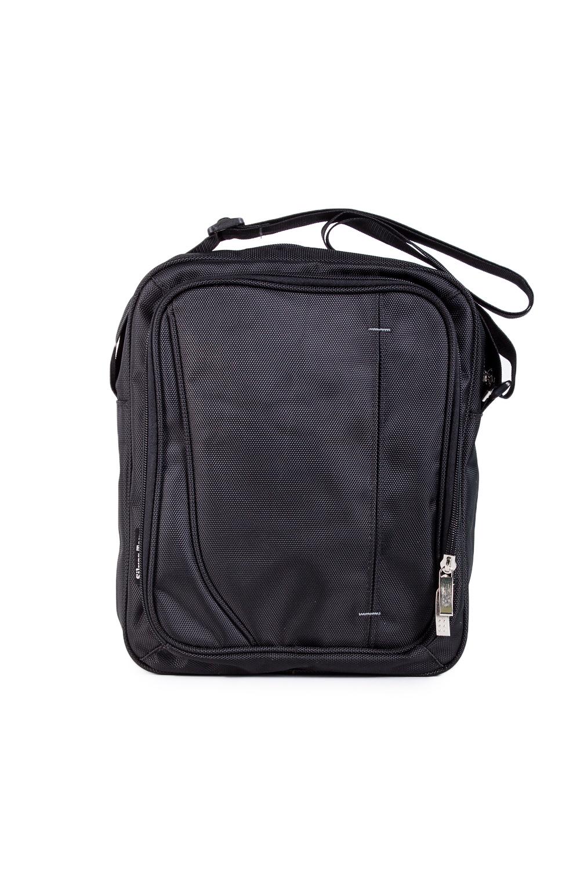 СумкаБарсетки<br>Удобная мужская сумка. Модель с застежкой на молнию и одной плечевой ручкой.  В изделии использованы цвета: черный  Габариты, см: 32х25х8,5<br><br>Размер : UNI<br>Материал: Полиэстер<br>Количество в наличии: 2