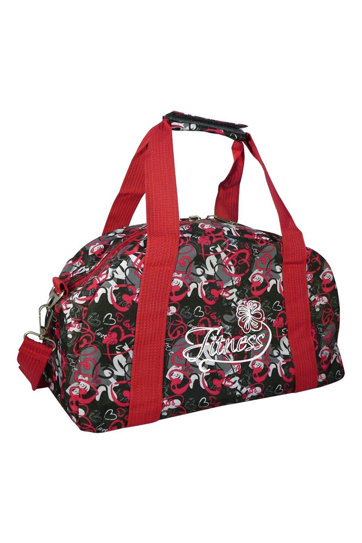 СумкаСпортивные<br>Яркая сумка для активного отдыха или занятий спортом из качественных ярких материалов. Одно основное отделение с застежкой на молнию. Удобные короткие ручки, в комплекте длинный ремень.  Размеры: 45*23*27 см  Цвет: красный, черный, серый<br><br>По материалу: Тканевые<br>По размеру: Средние<br>По рисунку: Цветные,С принтом<br>По способу ношения: В руках,На плечо<br>По степени жесткости: Мягкие<br>По типу застежки: С застежкой молнией<br>Ручки: Длинные,Короткие<br>По стилю: Повседневный стиль,Спортивный стиль<br>По форме: Трапециевидные<br>Размер : UNI<br>Материал: Полиэстер<br>Количество в наличии: 1