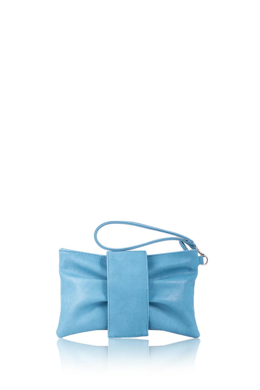 КлатчКлатчи<br>Женские сумки бренда DINESSI - это стильные аксессуары, которые по достоинству оценят представительницы прекрасного пола.  Клатч в форме банта. На передней части сумки складки и откидной клапан с магнитом. Застегивается на молнию. Внутри карман с молнией, накладной карман и под телефон.   Цвет: голубой.  Размеры: Длина - 26 ± 1 см Высота - 16 ± 1 см Глубина - 1,5 ± 1 см<br><br>По материалу: Искусственная кожа<br>По размеру: Маленькие<br>По рисунку: Однотонные<br>По силуэту стенок: Прямоугольные<br>По способу ношения: В руках,На запастье<br>По степени жесткости: Мягкие<br>По типу застежки: На магните,С застежкой молнией<br>По элементам: Карман на молнии,Карман под телефон<br>Ручки: Короткие<br>По стилю: Повседневный стиль,Нарядный стиль<br>Размер : UNI<br>Материал: Искусственная кожа<br>Количество в наличии: 1