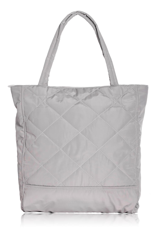 Сумка - шоппингСумки-шоппинг<br>Женские сумки бренда DINESSI - это стильные аксессуары, которые по достоинству оценят представительницы прекрасного пола.  Оригинальная сумка - шоппинг из практичной плащевой ткани. Изделие украшено декоративной строчкой. Две ручки, центральная застежка на молнии, внутри карман на молнии, под сотовый телефон и ключи.  Цвет: серый.  Размеры: 34,5*9*39 см<br><br>Отделения: 1 отделение<br>По материалу: Плащевая ткань<br>По размеру: Крупные<br>По рисунку: Однотонные<br>По способу ношения: В руках,На плечо<br>По степени жесткости: Мягкие<br>По типу застежки: С застежкой молнией<br>По элементам: Карман на молнии,Карман под телефон,Отделка строчкой<br>Ручки: Короткие<br>По форме: Прямоугольные<br>Размер : UNI<br>Материал: Плащевая ткань<br>Количество в наличии: 3