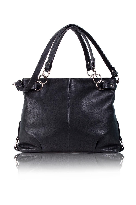 СумкаСумки-шоппинг<br>Женские сумки бренда DINESSI - это стильные аксессуары, которые по достоинству оценят представительницы прекрасного пола.  Сумка мешок с одним отделением на молнии. Две короткие лямки на кольцах и одна длинная без регулятора. На задней части сумки карман на молнии. Внутри два накладных кармана и карман на молнии.  Цвет: черный. Подклад может отличаться от представленного на фото.  Длина 39 ± 1 см Высота 32,5 ± 1 см Глубина 5,5 ± 1 см<br><br>Отделения: 2 отделения<br>По материалу: Искусственная кожа<br>По размеру: Крупные<br>По рисунку: Однотонные<br>По силуэту стенок: Квадратные<br>По способу ношения: В руках,На плечо,Через плечо<br>По степени жесткости: Мягкие<br>По типу застежки: С застежкой молнией<br>По элементам: Карман на молнии,Карман под телефон,С отделочной фурнитурой,С ремнями<br>Ручки: Длинные,Короткие<br>Размер : UNI<br>Материал: Искусственная кожа<br>Количество в наличии: 1