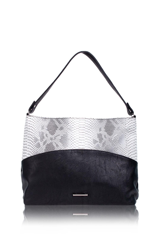 СумкаСумки-шоппинг<br>Женские сумки бренда DINESSI - это стильные аксессуары, которые по достоинству оценят представительницы прекрасного пола.  Сумка с застежкой на молнию и плоской ручкой. На задней части сумки карман на молнии. Внутри два накладных кармана и карман на молнии.  Цвет: серый (рептилия), черный (основа).  Подклад может отличаться от представленного на фото.  Длина - 38 ± 1 см Высота - 28 ± 1 см Глубина - 12 ± 1 см Длина ручки - 56 ± 1 см<br><br>Отделения: 1 отделение<br>По материалу: Искусственная кожа<br>По размеру: Средние<br>По рисунку: Рептилия,Цветные<br>По способу ношения: В руках,На плечо<br>По степени жесткости: Мягкие<br>По типу застежки: С застежкой молнией<br>По элементам: Карман на молнии,Карман под телефон,С декором<br>Ручки: Короткие<br>По форме: Прямоугольные<br>Размер : UNI<br>Материал: Искусственная кожа<br>Количество в наличии: 1