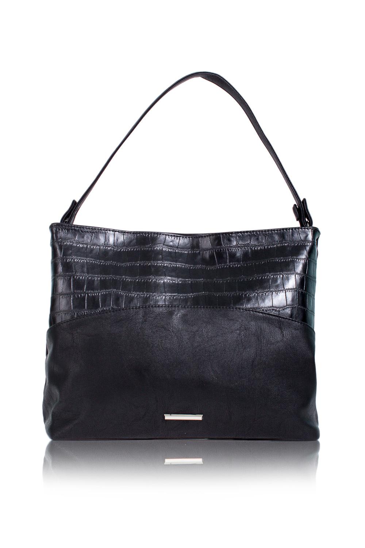 СумкаСумки-шоппинг<br>Женские сумки бренда DINESSI - это стильные аксессуары, которые по достоинству оценят представительницы прекрасного пола.  Сумка с застежкой на молнию и плоской ручкой. На задней части сумки карман на молнии. Внутри два накладных кармана и карман на молнии.  Цвет: черный.  Подклад может отличаться от представленного на фото.  Длина - 38 ± 1 см Высота - 28 ± 1 см Глубина - 12 ± 1 см Длина ручки - 56 ± 1 см<br><br>Отделения: 1 отделение<br>По материалу: Искусственная кожа<br>По размеру: Средние<br>По рисунку: Рептилия,Цветные<br>По способу ношения: В руках,На плечо<br>По степени жесткости: Мягкие<br>По типу застежки: С застежкой молнией<br>По элементам: Карман на молнии,Карман под телефон,С декором<br>Ручки: Короткие<br>По форме: Прямоугольные<br>Размер : UNI<br>Материал: Искусственная кожа<br>Количество в наличии: 1