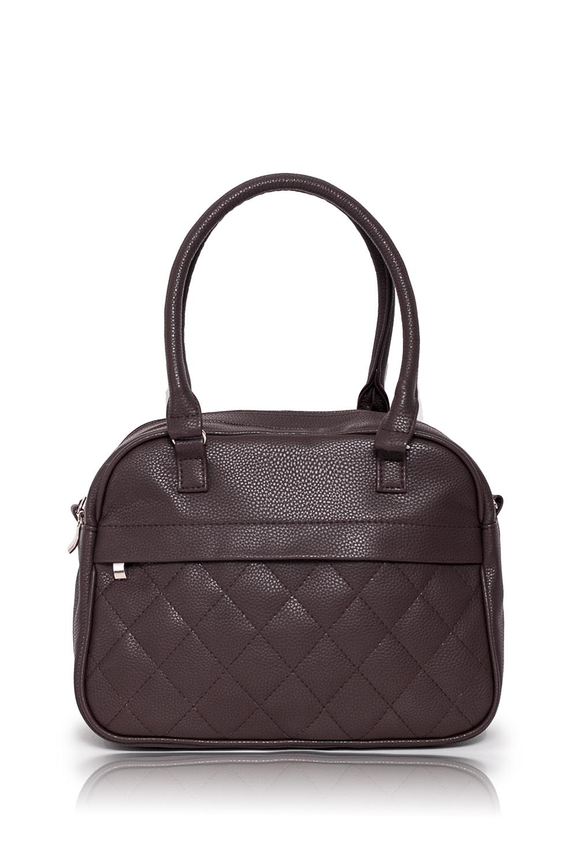 СумкаКлассические<br>Женские сумки бренда DINESSI - это стильные аксессуары, которые по достоинству оценят представительницы прекрасного пола.  Сумка с двумя отделениями с застежкой на молнию, двумя короткими ручками и отстегивающейся длинной лямкой. На передней и задней частях сумки карманы на молнии. Внутри два накладных кармана и карман на молнии.   Цвет: коричневый.  Размеры: Высота - 26 ± 1 см Длина - 30 ± 1 см Ширина - 13 ± 1 см Длина ручек - 53 ± 1 см<br><br>Отделения: 2 отделения<br>По материалу: Искусственная кожа<br>По размеру: Средние<br>По рисунку: Однотонные<br>По способу ношения: В руках,На запастье,На плечо,Через плечо<br>По степени жесткости: Мягкие<br>По типу застежки: С застежкой молнией<br>По элементам: Карман на молнии,Карман под телефон,С декором,С ремнями<br>Ручки: Длинные,Короткие,Регулируемые<br>Размер : UNI<br>Материал: Искусственная кожа<br>Количество в наличии: 1