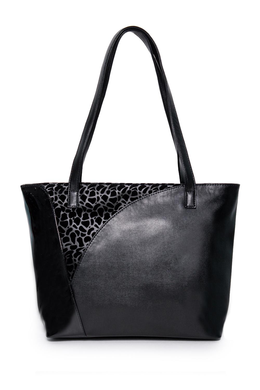 СумкаСумки-шоппинг<br>Женские сумки бренда DINESSI - это стильные аксессуары, которые по достоинству оценят представительницы прекрасного пола.  Сумка - шоппинг с застежкой молнией и двумя ручками. На задней части сумки карман на молнии. Внутри два накладных кармана и карман на молнии..   В изделии использованы цвета: черный.  Подклад может отличаться от представленного на фото.  Размеры: Высота - 29,5 ± 1 см Длина по верху - 41 ± 1 см Длина по низу - 34 ± 1 см Ширина - 11,5 ± 1 см Длина ручек - 67 ± 1 см<br><br>Отделения: 1 отделение<br>По материалу: Искусственная кожа<br>По размеру: Крупные<br>По рисунку: Однотонные<br>По способу ношения: В руках,На плечо<br>По степени жесткости: Мягкие<br>По типу застежки: С застежкой молнией<br>По форме: Трапециевидные<br>По элементам: Карман на молнии,Карман под телефон,С декором<br>Ручки: Длинные<br>Размер : UNI<br>Материал: Искусственная кожа<br>Количество в наличии: 1