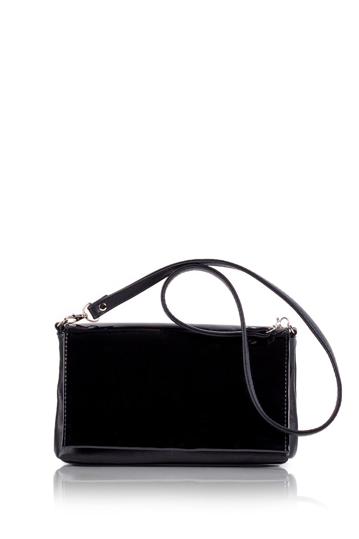 КлатчКлатчи<br>Женские сумки бренда DINESSI - это стильные аксессуары, которые по достоинству оценят представительницы прекрасного пола.  Клатч с клапаном и застежкой на молнию. Внутри один карман на молнии.  Цвет: черный.  Размеры: Высота - 15,5 ± 1 см Длина - 27 ± 1 см Глубина - 5,5 ± 1 см<br><br>Отделения: 1 отделение<br>По материалу: Искусственная кожа,Лакированная кожа<br>По размеру: Средние<br>По рисунку: Однотонные<br>По способу ношения: В руках,На плечо,Через плечо<br>По степени жесткости: Мягкие<br>По стилю: Нарядный стиль,Повседневный стиль<br>По типу застежки: На магните,С застежкой молнией<br>По форме: Прямоугольные<br>По элементам: Карман на молнии,Карман под телефон,С карабином,С ремнями<br>Ручки: Длинные<br>Размер : UNI<br>Материал: Искусственная кожа<br>Количество в наличии: 1