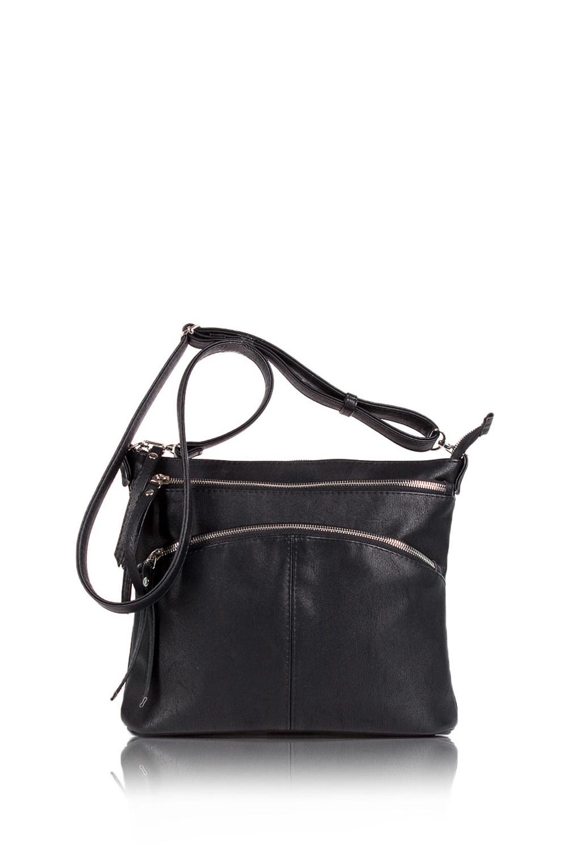 СумкаКлассические<br>Женские сумки бренда DINESSI - это стильные аксессуары, которые по достоинству оценят представительницы прекрасного пола.  Сумка с тремя отделениями на молнии и длинной, регулирующейся, отстегивающейся лямкой. Внутри два накладных кармана и карман на молнии.  Подклад может отличаться от представленного на фото.  Цвет: черный.  Размеры: Высота - 24 ± 1 см Длина - 29 ± 1 см Ширина - 7,5 ± 1 см<br><br>Отделения: 3 отделения<br>По материалу: Искусственная кожа<br>По размеру: Маленькие,Средние<br>По рисунку: Однотонные<br>По силуэту стенок: Прямоугольные<br>По способу ношения: В руках,На запастье,На плечо,Через плечо<br>По степени жесткости: Мягкие<br>По типу застежки: С застежкой молнией<br>По элементам: Карман на молнии,Карман под телефон,С декором,С отделочной фурнитурой<br>Ручки: Длинные,Регулируемые<br>Размер : UNI<br>Материал: Искусственная кожа<br>Количество в наличии: 1