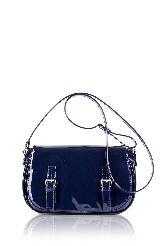 СумкаКлассические<br>Женские сумки бренда DINESSI - это стильные аксессуары, которые по достоинству оценят представительницы прекрасного пола.  Сумка с клапаном, застежкой на молнию и магнит и длинной, регулируемой лямкой. На задней части сумки карман на молнии. Внутри два накладных кармана и карман на молнии.  Подклад может отличаться от представленного на фото.  Цвет: синий.  Размеры: Высота - 17,5 ± 1 см Длина - 30 ± 1 см Ширина - 6 ± 1 см<br><br>По материалу: Искусственная кожа,Лакированная кожа<br>По размеру: Маленькие<br>По рисунку: Однотонные<br>По способу ношения: В руках,На плечо,Через плечо<br>По степени жесткости: Мягкие<br>По типу застежки: На магните,С застежкой молнией,С клапаном<br>По форме: Полукруглые<br>По элементам: Карман на молнии,Карман под телефон,С декором,С отделочной фурнитурой,С ремнями<br>Ручки: Длинные,Регулируемые<br>Размер : UNI<br>Материал: Искусственная кожа<br>Количество в наличии: 1