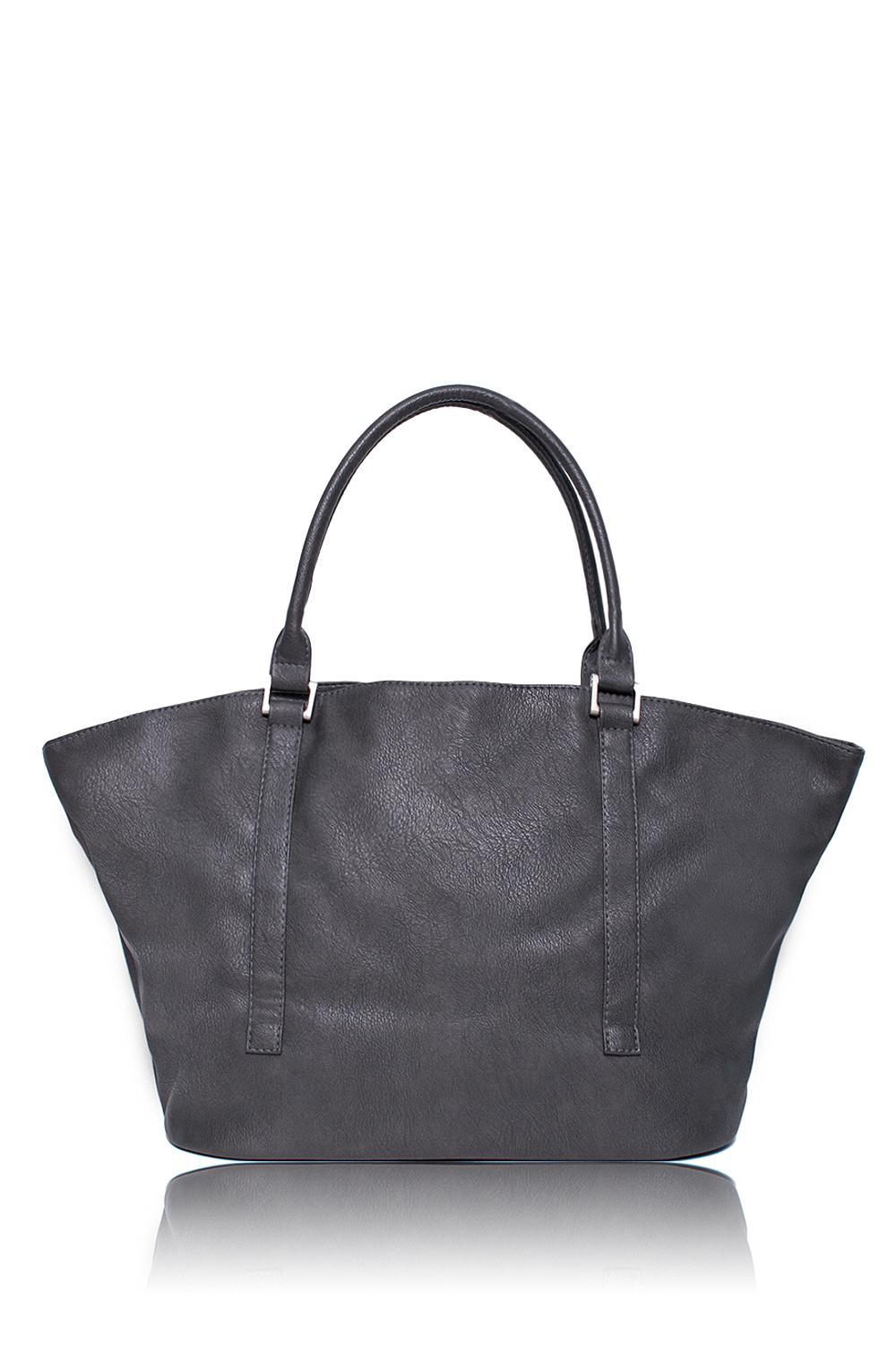 Сумка - шоппингСумки-шоппинг<br>Женские сумки бренда DINESSI - это стильные аксессуары, которые по достоинству оценят представительницы прекрасного пола.  Сумка - шоппинг мягкой формы с застежкой на две короткие молнии и магнит. Две лямки + длинная съемная лямка. Внутри два накладных кармана и карман на молнии.  Цвет: серый.  Размеры: Высота - 30 ± 1 см Длина по дну - 37 ± 1 см Длина по верху - 55 ± 1 см Глубина - 15,5 ± 1 см<br><br>По материалу: Искусственная кожа<br>По размеру: Крупные<br>По рисунку: Однотонные<br>По силуэту стенок: Трапециевидные<br>По способу ношения: В руках,На плечо<br>По степени жесткости: Мягкие<br>По типу застежки: На магните,С застежкой молнией<br>По элементам: Карман на молнии,Карман под телефон,С карабином,С ремнями<br>Ручки: Длинные,Короткие<br>Размер : UNI<br>Материал: Искусственная кожа<br>Количество в наличии: 1