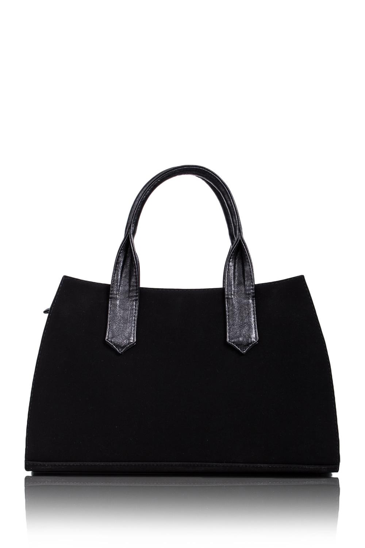 СумкаКлассические<br>Женские сумки бренда DINESSI - это стильные аксессуары, которые по достоинству оценят представительницы прекрасного пола.  Сумка классическая с застежкой на молнии и двумя короткими ручками. Внутри два накладных кармана и карман на молнии.  Цвет: черный.  Размеры: Высота - 23 ± 1 см Длина по верху- 32 ± 1 см Длина по низу- 40 ± 1 см Ширина - 10 ± 1 см<br><br>По размеру: Средние<br>По рисунку: Однотонные<br>По силуэту стенок: Трапециевидные<br>По способу ношения: В руках,На запастье<br>По типу застежки: С застежкой молнией<br>По элементам: Карман на молнии,Карман под телефон<br>Ручки: Короткие<br>По материалу: Замша<br>Размер : UNI<br>Материал: Искусственная кожа + Искусственная замша<br>Количество в наличии: 1