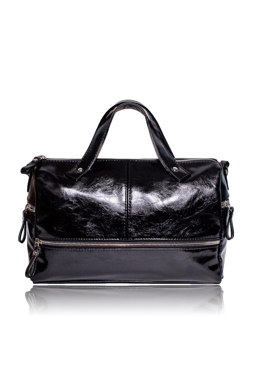 СумкаКлассические<br>Женские сумки бренда DINESSI - это стильные аксессуары, которые по достоинству оценят представительницы прекрасного пола.  Сумка с застежкой на молнию, двумя короткими ручками и длинной отстегивающейся лямкой. На передней части сумки декоративная молния. По бокам карманы на молнии. Внутри три отделения, одно из них на молнии, два накладных кармана и карман на молнии.  Цвет: черный.  Длина - 31 ± 1 см Высота - 20 ± 1 см Ширина - 10 ± 1 см Длина ручек - 26 ± 1 см<br><br>Отделения: 3 отделения<br>По материалу: Искусственная кожа<br>По размеру: Средние<br>По рисунку: Однотонные<br>По способу ношения: В руках,На запастье,На плечо,Через плечо<br>По степени жесткости: Мягкие<br>По типу застежки: С застежкой молнией<br>По форме: Прямоугольные<br>По элементам: Карман на молнии,Карман под телефон,С декором,С отделочной фурнитурой,С ремнями<br>Ручки: Длинные,Короткие,Регулируемые<br>Размер : UNI<br>Материал: Искусственная кожа<br>Количество в наличии: 1