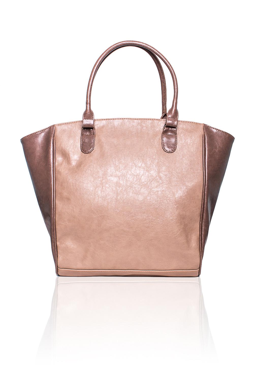 Сумка - шоппингСумки-шоппинг<br>Женские сумки бренда DINESSI - это стильные аксессуары, которые по достоинству оценят представительницы прекрасного пола.  Сумка с застежкой молнией и двумя короткими ручками. На задней части карман на молнии. Внутри два накладных кармана и карман на молнии.  Цвет: коричневый и бежевый.  Размеры: Высота - 34 ± 1 см Длина по дну - 32,5 ± 1 см Длина по верху - 49 ± 1 см Глубина - 10,5 ± 1 см<br><br>По материалу: Искусственная кожа<br>По размеру: Крупные<br>По рисунку: Однотонные<br>По способу ношения: В руках,На плечо<br>По степени жесткости: Мягкие<br>По типу застежки: С застежкой молнией<br>По элементам: Карман на молнии,Карман под телефон<br>Ручки: Короткие<br>По форме: Трапециевидные<br>Размер : UNI<br>Материал: Искусственная кожа<br>Количество в наличии: 1
