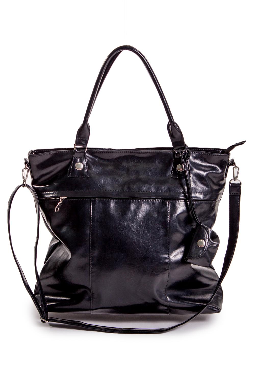 СумкаСумки-шоппинг<br>Женские сумки бренда DINESSI - это стильные аксессуары, которые по достоинству оценят представительницы прекрасного пола.  Сумка - шоппинг. На передней части сумки широкий карман на молнии и съемная монетница. На задней части сумки карман на молнии. Две короткие ручки и длинная, отстегивающаяся, регулируемая лямка. Внутри два накладных кармана и карман на молнии.  Цвет: черный.  Длина - 37 ± 1 см Высота - 36 ± 1 см Глубина - 11 ± 1 см<br><br>По материалу: Искусственная кожа,Лакированная кожа<br>По размеру: Крупные<br>По рисунку: Однотонные<br>По способу ношения: В руках,На плечо,Через плечо<br>По степени жесткости: Мягкие<br>По типу застежки: На кнопках,С застежкой молнией<br>По элементам: Карман на молнии,Карман под телефон,С ремнями<br>Ручки: Длинные,Короткие<br>По форме: Квадратные<br>Размер : UNI<br>Материал: Искусственная кожа<br>Количество в наличии: 1