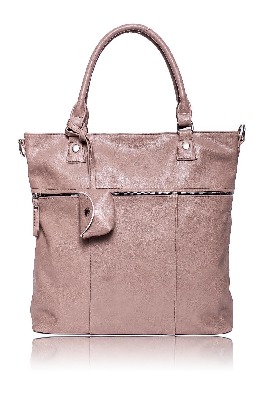 СумкаЖенские сумки бренда DINESSI - это стильные аксессуары, которые по достоинству оценят представительницы прекрасного пола.  Сумка - шоппинг. На передней части сумки широкий карман на молнии и съемная монетница. На задней части сумки карман на молнии. Две короткие ручки и длинная, отстегивающаяся, регулируемая лямка. Внутри два накладных кармана и карман на молнии.  Цвет: бежевый.  Длина - 37 ± 1 см Высота - 36 ± 1 см Глубина - 11 ± 1 см<br><br>По материалу: Искусственная кожа<br>По размеру: Крупные<br>По рисунку: Однотонные<br>По силуэту стенок: Квадратные<br>По способу ношения: В руках,На плечо,Через плечо<br>По степени жесткости: Мягкие<br>По типу застежки: На кнопках,С застежкой молнией<br>По элементам: Карман на молнии,Карман под телефон,С ремнями<br>Ручки: Длинные,Короткие<br>Размер : UNI<br>Материал: Искусственная кожа<br>Количество в наличии: 1