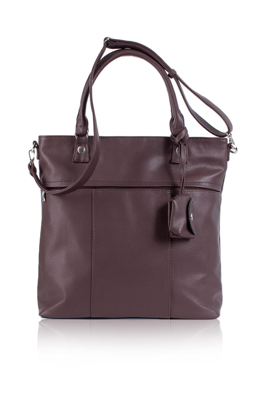 СумкаСумки-шоппинг<br>Женские сумки бренда DINESSI - это стильные аксессуары, которые по достоинству оценят представительницы прекрасного пола.  Сумка - шоппинг. На передней части сумки широкий карман на молнии и съемная монетница. На задней части сумки карман на молнии. Две короткие ручки и длинная, отстегивающаяся, регулируемая лямка. Внутри два накладных кармана и карман на молнии.  Цвет: коричневый.  Длина - 37 ± 1 см Высота - 36 ± 1 см Глубина - 11 ± 1 см<br><br>По материалу: Искусственная кожа<br>По размеру: Крупные<br>По рисунку: Однотонные<br>По способу ношения: В руках,На плечо,Через плечо<br>По степени жесткости: Мягкие<br>По типу застежки: На кнопках,С застежкой молнией<br>По форме: Квадратные<br>По элементам: Карман на молнии,Карман под телефон,С ремнями<br>Ручки: Длинные,Короткие<br>Размер : UNI<br>Материал: Искусственная кожа<br>Количество в наличии: 1