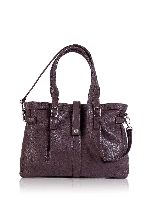 СумкаКлассические<br>Женские сумки бренда DINESSI - это стильные аксессуары, которые по достоинству оценят представительницы прекрасного пола.  Сумка классическая с двумя глубокими складками на передней части сумки. Застежка на молнию и узкий хлястик и кнопкой. На задней части карман на молнии. Внутри два накладных кармана и карман на молнии. Две короткие ручки и съемная лямка.   Цвет: коричневый.  Размеры: Высота - 27 ± 1 см Длина - 37 ± 1 см Ширина - 10 ± 1 см<br><br>По материалу: Искусственная кожа<br>По размеру: Средние<br>По рисунку: Однотонные<br>По способу ношения: В руках,На запастье,На плечо,Через плечо<br>По степени жесткости: Мягкие<br>По типу застежки: С застежкой молнией<br>По форме: Прямоугольные<br>По элементам: Карман на молнии,Карман под телефон,С декором,С отделочной фурнитурой,С ремнями<br>Ручки: Длинные,Короткие,Регулируемые<br>Размер : UNI<br>Материал: Искусственная кожа<br>Количество в наличии: 1