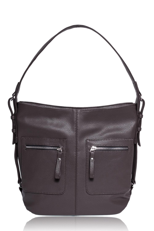 СумкаСумки-шоппинг<br>Женские сумки бренда DINESSI - это стильные аксессуары, которые по достоинству оценят представительницы прекрасного пола.  Сумка мешок с застежкой на молнию и одной лямкой. На передней части сумки средний шов и два кармана на молнии. Внутри два накладных кармана и карман на молнии.  Цвет: коричневый.  Длина - 37 ± 1 см Высота - 31,5 ± 1 см Ширина - 11 ± 1 см<br><br>По материалу: Искусственная кожа<br>По размеру: Крупные<br>По рисунку: Однотонные<br>По способу ношения: В руках,На плечо<br>По степени жесткости: Мягкие<br>По типу застежки: С застежкой молнией<br>По элементам: Карман на молнии,Карман под телефон<br>Ручки: Короткие<br>По форме: Квадратные<br>Размер : UNI<br>Материал: Искусственная кожа<br>Количество в наличии: 1