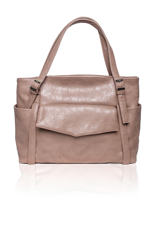 Сумка - шоппингСумки-шоппинг<br>Женские сумки бренда DINESSI - это стильные аксессуары, которые по достоинству оценят представительницы прекрасного пола.  Сумка с застежкой на молнию. На передней части сумки накладной карман с клапаном и застежкой на магнит. Две лямки с регулировкой пряжками. Внутри два накладных кармана и карман на молнии.  Цвет: бежевый.  Длина - 42 ± 1 см Высота - 29 ± 1 см Глубина - 11,5 ± 1 см<br><br>По материалу: Искусственная кожа<br>По размеру: Средние<br>По рисунку: Однотонные<br>По силуэту стенок: Прямоугольные<br>По способу ношения: В руках,На плечо<br>По степени жесткости: Мягкие<br>По типу застежки: На магните,С застежкой молнией<br>По элементам: Карман на молнии,Карман под телефон<br>Ручки: Длинные<br>Размер : UNI<br>Материал: Искусственная кожа<br>Количество в наличии: 1