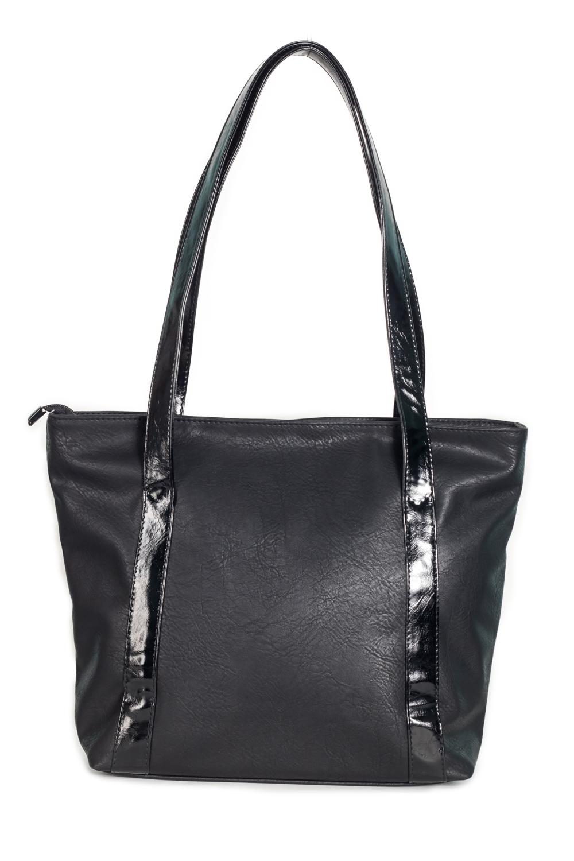 Сумка - шоппингСумки-шоппинг<br>Женские сумки бренда DINESSI - это стильные аксессуары, которые по достоинству оценят представительницы прекрасного пола.  Сумка-шоппинг с застежкой на молнию. Внутри два накладных кармана и карман на молнии.   Цвет: черный.  Размеры: Высота - 31 ± 1 см Длина по дну - 31 ± 1 см Длина по верху - 40 ± 1 см Глубина - 11,5 ± 1 см<br><br>По материалу: Искусственная кожа<br>По размеру: Средние<br>По рисунку: Однотонные<br>По силуэту стенок: Трапециевидные<br>По способу ношения: На плечо<br>По степени жесткости: Мягкие<br>По типу застежки: С застежкой молнией<br>По элементам: Карман на молнии,Карман под телефон<br>Ручки: Длинные<br>Размер : UNI<br>Материал: Искусственная кожа<br>Количество в наличии: 1