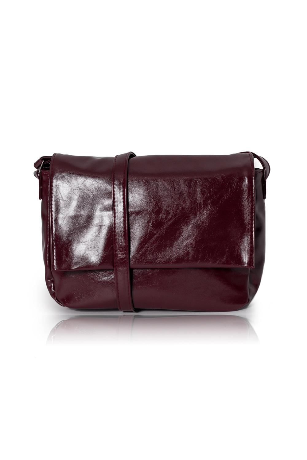 СумкаКлассические<br>Женские сумки бренда DINESSI - это стильные аксессуары, которые по достоинству оценят представительницы прекрасного пола.  Сумка с откидным клапаном и застежкой на молнию и магнит. В клапане и на задней части сумки карманы на молнии. Внутри два накладных кармана и карман на молнии. Длинная лямка с регулировкой на кнопках.   Цвет: бордовый.  Подклад может отличаться от представленного на фото.  Размеры: Длина - 31 ± 1 см Высота - 22 ± 1 см Глубина - 11 ± 1 см<br><br>Отделения: 2 отделения<br>По материалу: Искусственная кожа<br>По рисунку: Однотонные<br>По способу ношения: В руках,На плечо,Через плечо<br>По степени жесткости: Мягкие<br>По типу застежки: На магните,С застежкой молнией<br>По форме: Прямоугольные<br>По элементам: Карман на молнии,Карман под телефон<br>Ручки: Длинные<br>По размеру: Средние<br>Размер : UNI<br>Материал: Искусственная кожа<br>Количество в наличии: 1