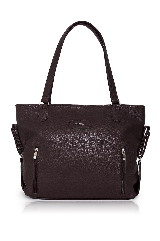 СумкаСумки-шоппинг<br>Женские сумки бренда DINESSI - это стильные аксессуары, которые по достоинству оценят представительницы прекрасного пола.  Сумка - шоппинг с застежкой на молнию и двумя карманами с вертикальным входом на передней части изделия. На задней части сумки карман на молнии. Внутри два накладных кармана и карман на молнии.   Цвет: коричневый.  Размеры: 42*29*13,5 ± 2 см<br><br>Отделения: 1 отделение<br>По материалу: Искусственная кожа<br>По размеру: Крупные<br>По рисунку: Однотонные<br>По способу ношения: В руках,На плечо<br>По степени жесткости: Мягкие<br>По типу застежки: С застежкой молнией<br>По форме: Прямоугольные<br>По элементам: Карман на молнии,Карман под телефон,С декором,С отделочной фурнитурой<br>Ручки: Короткие<br>Размер : UNI<br>Материал: Искусственная кожа<br>Количество в наличии: 1