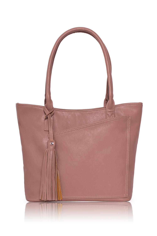 СумкаСумки-шоппинг<br>Женские сумки бренда DINESSI - это стильные аксессуары, которые по достоинству оценят представительницы прекрасного пола.  Сумка с застежкой на молнию и двумя короткими ручками. На передней части сумки накладной карман, на задней карман на молнии. Внутри три отделения, одно из них на молнии, два накладных кармана и карман на молнии.  Цвет: капучино.  Подклад может отличаться от представленного на фото.  Размеры:  Длина по дну - 29,5 ± 1 см Длина по верху - 35 ± 1 см Высота - 25 ± 1 см Ширина - 10 ± 1 см Длина ручек - 55 ± 1 см<br><br>Отделения: 3 отделения<br>По способу ношения: В руках,На плечо<br>По степени жесткости: Мягкие<br>Ручки: Короткие<br>Материал: Искусственная кожа<br>Размер: Крупные<br>Рисунок: Однотонные<br>Форма: Трапециевидные<br>Элементы: Карман на молнии,Карман под телефон,С декором,С кисточками<br>Застежка: С застежкой молнией<br>Размер : UNI<br>Материал: Искусственная кожа<br>Количество в наличии: 1