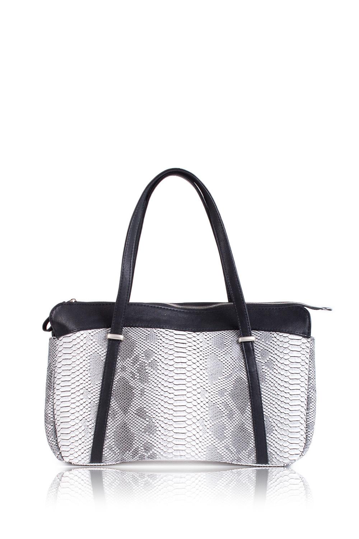 СумкаСумки-шоппинг<br>Женские сумки бренда DINESSI - это стильные аксессуары, которые по достоинству оценят представительницы прекрасного пола.  Сумка - шоппинг с застежкой на молнии. На задней части сумки карман на молнии. Две короткие ручки. Внутри два накладных карман и карман на молнии.   Цвет: черный, серый.  Подклад может отличаться от представленного на фото.  Размеры: Высота - 27 ± 1 см Длина - 45 ± 1 см Глубина - 11 ± 1 см<br><br>По материалу: Искусственная кожа<br>По размеру: Крупные<br>По рисунку: Рептилия,С принтом,Цветные<br>По способу ношения: В руках,На плечо<br>По степени жесткости: Мягкие<br>По элементам: Карман на молнии,Карман под телефон,С декором<br>Ручки: Короткие<br>По форме: Прямоугольные<br>По типу застежки: С застежкой молнией<br>Размер : UNI<br>Материал: Искусственная кожа<br>Количество в наличии: 1