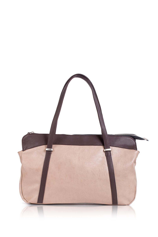 СумкаСумки-шоппинг<br>Женские сумки бренда DINESSI - это стильные аксессуары, которые по достоинству оценят представительницы прекрасного пола.  Сумка - шоппинг с застежкой на молнии. На задней части сумки карман на молнии. Две короткие ручки. Внутри два накладных карман и карман на молнии.   Подклад может отличаться от представленного на фото.  Цвет: бежевый, коричневый.  Размеры: Высота - 27 ± 1 см Длина - 45 ± 1 см Глубина - 11 ± 1 см<br><br>По материалу: Искусственная кожа<br>По размеру: Крупные<br>По рисунку: Цветные<br>По способу ношения: В руках,На плечо<br>По степени жесткости: Мягкие<br>По элементам: Карман на молнии,Карман под телефон<br>Ручки: Короткие<br>По форме: Прямоугольные<br>По типу застежки: С застежкой молнией<br>Размер : UNI<br>Материал: Искусственная кожа<br>Количество в наличии: 1