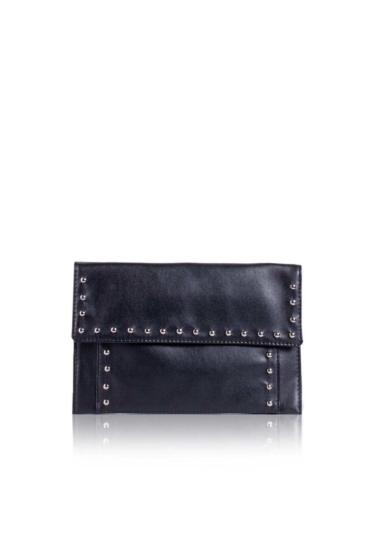 КлатчКлатчи<br>Женские сумки бренда DINESSI - это стильные аксессуары, которые по достоинству оценят представительницы прекрасного пола.  Клатч с клапаном и застежкой на кнопку. Накладной карман на передней части сумки.   Цвет: черный.  Размеры: Высота - 19 ± 1 см Длина - 29 ± 1 см Ширина - 1 ± 1 см<br><br>Отделения: 1 отделение<br>По материалу: Искусственная кожа<br>По размеру: Средние<br>По рисунку: Однотонные<br>По способу ношения: В руках<br>По степени жесткости: Мягкие<br>По стилю: Нарядный стиль,Повседневный стиль<br>По типу застежки: На магните,С застежкой молнией<br>По форме: Прямоугольные<br>По элементам: С декором,С отделочной фурнитурой<br>Размер : UNI<br>Материал: Искусственная кожа<br>Количество в наличии: 1