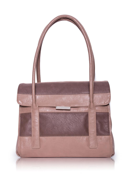 СумкаКлассические<br>Женские сумки бренда DINESSI - это стильные аксессуары, которые по достоинству оценят представительницы прекрасного пола.  Сумка с откидным клапаном и застежкой на магнит. На задней части сумки карман на молнии. Две короткие ручки. Внутри 4 отделениями (2 из них на молнии), два накладных кармана и карман на молнии.  Цвет: бежевый с коричневыми вставками.  Размеры: Высота - 26 ± 1 см Длина - 32 ± 1 см Ширина - 11,5 ± 1 см<br><br>Отделения: 4 отделения<br>По материалу: Искусственная кожа<br>По размеру: Средние<br>По рисунку: Цветные<br>По силуэту стенок: Прямоугольные<br>По способу ношения: В руках,На запастье,На плечо<br>По степени жесткости: Полужесткие<br>По типу застежки: На магните,С застежкой молнией<br>По элементам: Карман на молнии,Карман под телефон<br>Ручки: Короткие<br>Размер : UNI<br>Материал: Искусственная кожа<br>Количество в наличии: 1