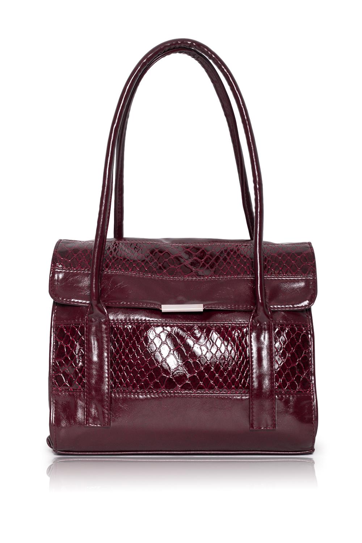 СумкаКлассические<br>Женские сумки бренда DINESSI - это стильные аксессуары, которые по достоинству оценят представительницы прекрасного пола.  Сумка с откидным клапаном и застежкой на магнит. На задней части сумки карман на молнии. Две короткие ручки. Внутри 4 отделениями (2 из них на молнии), два накладных кармана и карман на молнии.  Цвет: бордовый.  Размеры: Высота - 26 ± 1 см Длина - 32 ± 1 см Ширина - 11,5 ± 1 см<br><br>Отделения: 4 отделения<br>По материалу: Искусственная кожа,Лакированная кожа<br>По размеру: Средние<br>По рисунку: Однотонные,Рептилия,Фактурный рисунок<br>По способу ношения: В руках,На запастье,На плечо<br>По степени жесткости: Полужесткие<br>По типу застежки: На магните,С застежкой молнией<br>По форме: Прямоугольные<br>По элементам: Карман на молнии,Карман под телефон<br>Ручки: Короткие<br>Размер : UNI<br>Материал: Искусственная кожа<br>Количество в наличии: 1