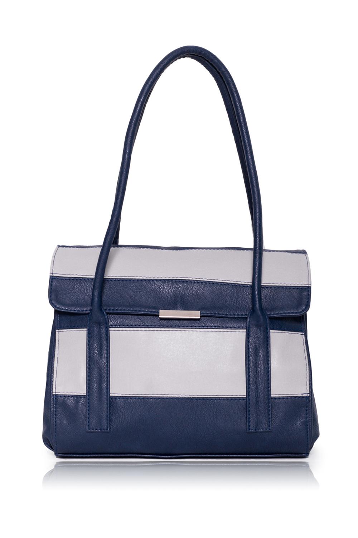 СумкаКлассические<br>Женские сумки бренда DINESSI - это стильные аксессуары, которые по достоинству оценят представительницы прекрасного пола.  Сумка с откидным клапаном и застежкой на магнит. На задней части сумки карман на молнии. Две короткие ручки. Внутри 4 отделениями (2 из них на молнии), два накладных кармана и карман на молнии.  Цвет: синий с серыми вставками.  Размеры: Высота - 26 ± 1 см Длина - 32 ± 1 см Ширина - 11,5 ± 1 см<br><br>Отделения: 4 отделения<br>По материалу: Искусственная кожа<br>По размеру: Средние<br>По рисунку: Цветные<br>По способу ношения: В руках,На запастье,На плечо<br>По степени жесткости: Полужесткие<br>По типу застежки: На магните,С застежкой молнией<br>По форме: Прямоугольные<br>По элементам: Карман на молнии,Карман под телефон<br>Ручки: Короткие<br>Размер : UNI<br>Материал: Искусственная кожа<br>Количество в наличии: 1