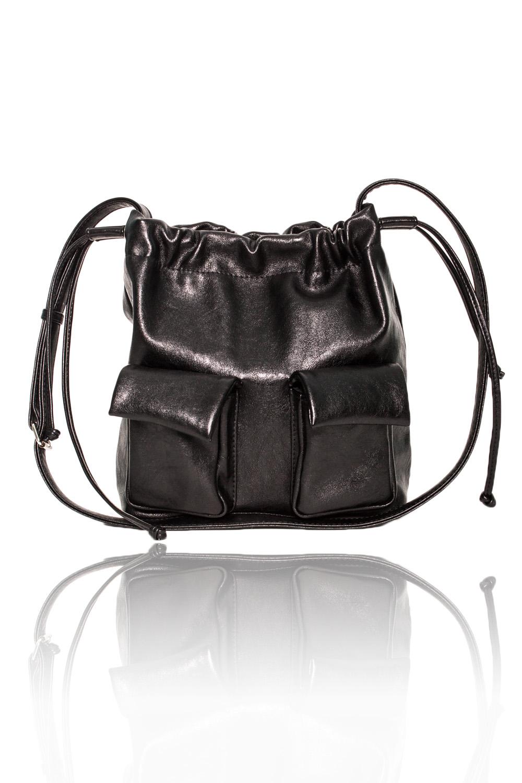 СумкаСумки-шоппинг<br>Женские сумки бренда DINESSI - это стильные аксессуары, которые по достоинству оценят представительницы прекрасного пола.  Сумка с застежкой на потайную кнопку с затяжками по бокам. На передней части сумки два накладных карман с клапанами с кнопками. Длинная лямка с регулятором. Внутри карман на молнии и два накладных кармана.  Цвет: черный.  Размеры: Высота - 27 ± 1 см Ширина - 10,5 ± 1 см Длина - 26 ± 1 см<br><br>По материалу: Искусственная кожа<br>По размеру: Средние<br>По рисунку: Однотонные<br>По способу ношения: В руках,На плечо,Через плечо<br>По степени жесткости: Мягкие<br>По типу застежки: На магните,С застежкой молнией<br>По элементам: Карман на молнии,Карман под телефон,С кисточками,С ремнями<br>Ручки: Длинные,Регулируемые<br>По форме: Квадратные<br>Размер : UNI<br>Материал: Искусственная кожа<br>Количество в наличии: 1