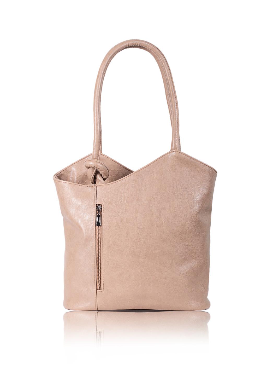 СумкаСумки-шоппинг<br>Женские сумки бренда DINESSI - это стильные аксессуары, которые по достоинству оценят представительницы прекрасного пола.  Сумка с асимметричным верхним срезом на молнии. Карманы на молнии на передней и задней частях изделия. Две ручки. Внутри два накладных кармана и карман на молнии.   Цвет: бежевый.  Размеры: Высота по центру - 29,5 ± 1 см Ширина - 36 ± 1 см Глубина - 11,5 ± 1 см<br><br>Отделения: 1 отделение<br>По материалу: Искусственная кожа<br>По размеру: Крупные<br>По рисунку: Однотонные<br>По способу ношения: В руках,На плечо<br>По степени жесткости: Мягкие<br>По типу застежки: С застежкой молнией<br>По элементам: Карман на молнии,Карман под телефон,С декором<br>Ручки: Короткие<br>Размер : UNI<br>Материал: Искусственная кожа<br>Количество в наличии: 1