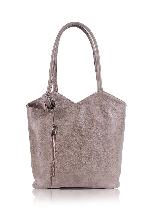 СумкаСумки-шоппинг<br>Женские сумки бренда DINESSI - это стильные аксессуары, которые по достоинству оценят представительницы прекрасного пола.  Сумка с асимметричным верхним срезом на молнии. Карманы на молнии на передней и задней частях изделия. Две ручки. Внутри два накладных кармана и карман на молнии.   Цвет: серо-бежевый.  Размеры: Высота по центру - 29,5 ± 1 см Ширина - 36 ± 1 см Глубина - 11,5 ± 1 см<br><br>Отделения: 1 отделение<br>По материалу: Искусственная кожа<br>По размеру: Крупные<br>По рисунку: Однотонные<br>По способу ношения: В руках,На плечо<br>По степени жесткости: Мягкие<br>По типу застежки: С застежкой молнией<br>По элементам: Карман на молнии,Карман под телефон,С декором<br>Ручки: Короткие<br>Размер : UNI<br>Материал: Искусственная кожа<br>Количество в наличии: 1