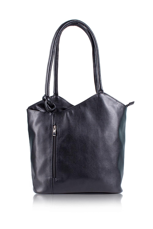 СумкаСумки-шоппинг<br>Женские сумки бренда DINESSI - это стильные аксессуары, которые по достоинству оценят представительницы прекрасного пола.  Сумка с асимметричным верхним срезом на молнии. Карманы на молнии на передней и задней частях изделия. Две ручки. Внутри два накладных кармана и карман на молнии.   Цвет: черный.  Размеры: Высота по центру - 29,5 ± 1 см Ширина - 36 ± 1 см Глубина - 11,5 ± 1 см<br><br>Отделения: 1 отделение<br>По материалу: Искусственная кожа<br>По размеру: Крупные<br>По рисунку: Однотонные<br>По способу ношения: В руках,На плечо<br>По степени жесткости: Мягкие<br>По типу застежки: С застежкой молнией<br>По элементам: Карман на молнии,Карман под телефон,С декором<br>Ручки: Короткие<br>Размер : UNI<br>Материал: Искусственная кожа<br>Количество в наличии: 1