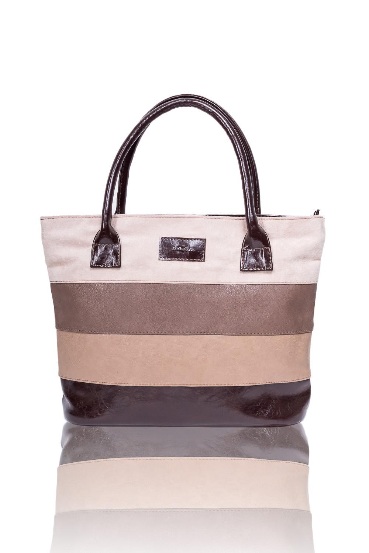 СумкаСумки-шоппинг<br>Женские сумки бренда DINESSI - это стильные аксессуары, которые по достоинству оценят представительницы прекрасного пола.  Сумка - шоппинг с застежкой на молнию и двумя ручками. На задней части сумки карман на молнии. Внутри два накладных кармана и карман на молнии.   В изделии использованы цвета: бежевый, коричневый и др.  Размеры: Высота - 28,5 ± 1 см Длина - 39 ± 1 см Глубина - 11 ± 1 см<br><br>Отделения: 1 отделение<br>По материалу: Замша,Искусственная кожа<br>По размеру: Крупные<br>По рисунку: В полоску,Цветные<br>По силуэту стенок: Прямоугольные<br>По способу ношения: В руках,На плечо<br>По степени жесткости: Мягкие<br>По типу застежки: С застежкой молнией<br>По элементам: Карман на молнии,Карман под телефон<br>Ручки: Короткие<br>Размер : UNI<br>Материал: Искусственная кожа + Искусственная замша<br>Количество в наличии: 1