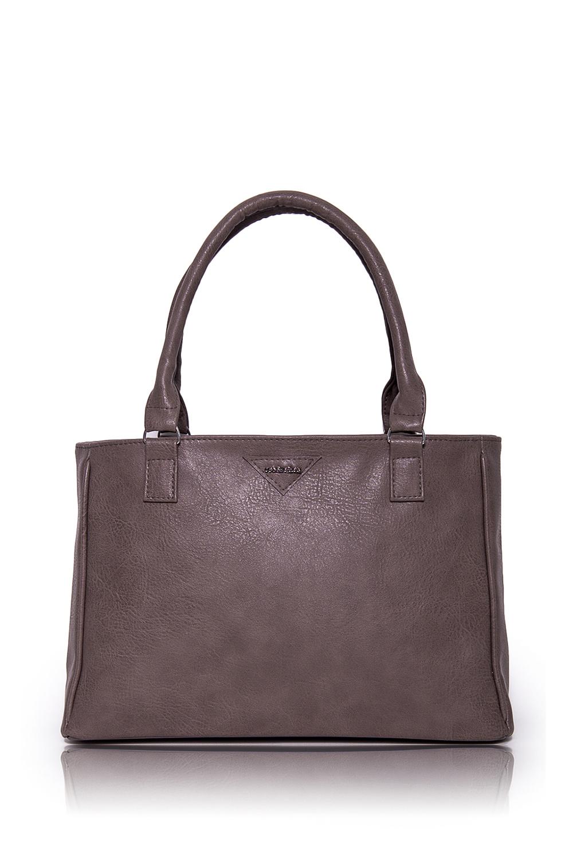 СумкаКлассические<br>Женские сумки бренда DINESSI - это стильные аксессуары, которые по достоинству оценят представительницы прекрасного пола.  Сумка жесткой формы с застежкой на молнию. На задней части изделия карман на молнии. Две короткие ручки. Внутри два накладных кармана и карман на молнии.   Цвет: бежево-серый.  Размеры: Высота по центру - 24 ± 1 см Длина - 34 ± 1 см Ширина - 10 ± 1 см<br><br>Отделения: 1 отделение<br>По материалу: Искусственная кожа<br>По размеру: Средние<br>По рисунку: Однотонные<br>По способу ношения: В руках,На запастье,На плечо<br>По степени жесткости: Мягкие<br>По типу застежки: С застежкой молнией<br>По элементам: Карман на молнии,Карман под телефон,С декором<br>Ручки: Короткие<br>По форме: Прямоугольные<br>Размер : UNI<br>Материал: Искусственная кожа<br>Количество в наличии: 1