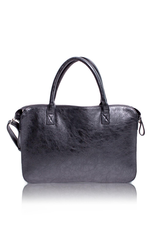 СумкаДеловые<br>Женские сумки бренда DINESSI - это стильные аксессуары, которые по достоинству оценят представительницы прекрасного пола.  Деловая сумка с застежкой на молнию, двумя короткими ручками и съемной, регулируемой лямкой. Внутри 3 отделения, одно из них на молнии, два накладных кармана и карман на молнии.   Цвет: черный.  Размеры: Длина - 38,5 ± 1 см Высота - 27 ± 1 см Ширина - 4,5 ± 1 см Длина ручки - 40 ± 1 см<br><br>По материалу: Искусственная кожа<br>По размеру: Крупные<br>По рисунку: Однотонные<br>По силуэту стенок: Прямоугольные<br>По способу ношения: В руках,На запастье,На плечо,Через плечо<br>По типу застежки: С застежкой молнией<br>По элементам: Карман на молнии,Карман под телефон,С ремнями<br>Ручки: Длинные,Короткие,Регулируемые<br>Размер : UNI<br>Материал: Искусственная кожа<br>Количество в наличии: 1