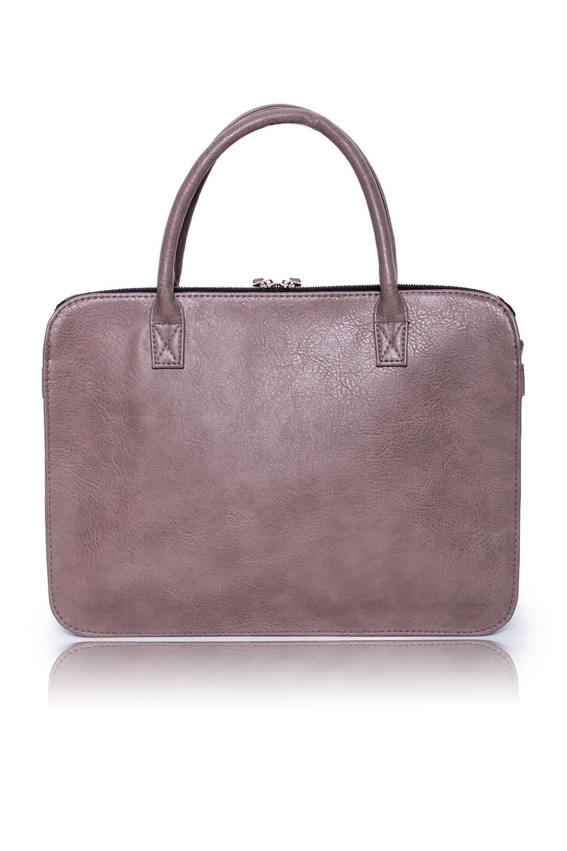 СумкаДеловые<br>Женские сумки бренда DINESSI - это стильные аксессуары, которые по достоинству оценят представительницы прекрасного пола.  Сумка с застежкой на молнию, двумя короткими ручками и длинной, регулируемой лямкой. На передней части изделия накладной карман с застежкой на кнопку. На задней части карман на молнии. Внутри 3 отделения одно из них на молнии, два накладных кармана и карман на молнии.   Цвет: бежево-серый.  Размеры: Длина по дну - 40 ± 1 см Длина по верху - 33 ± 1 см Высота - 29 ± 1 см Ширина - 9 ± 1 см Длина ручки - 54 ± 1 см<br><br>По материалу: Искусственная кожа<br>По размеру: Крупные<br>По рисунку: Однотонные<br>По силуэту стенок: Трапециевидные<br>По способу ношения: В руках,На запастье,На плечо,Через плечо<br>По типу застежки: На кнопках,С застежкой молнией<br>По элементам: Карман на молнии,Карман под телефон,С ремнями<br>Ручки: Длинные,Короткие,Регулируемые<br>Размер : UNI<br>Материал: Искусственная кожа<br>Количество в наличии: 1