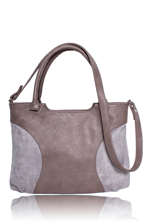СумкаКлассические<br>Женские сумки бренда DINESSI - это стильные аксессуары, которые по достоинству оценят представительницы прекрасного пола.  Классическая сумка с застежкой на молнию, двумя короткими ручками и длинной лямкой. На задней части сумки карман на молнии. Внутри два накладных кармана и карман на молнии.   Цвет: бежево-серый.  Размеры 35,5*25,5*12 ± 1 см Длина ручки - 43 ± 1 см Длина длинного ремня - 108 ± 1 см<br><br>По способу ношения: В руках,На запастье,На плечо,Через плечо<br>По степени жесткости: Мягкие<br>Ручки: Длинные,Короткие,Регулируемые<br>Материал: Замша,Искусственная кожа<br>Размер: Средние<br>Рисунок: Цветные<br>Форма: Прямоугольные<br>Элементы: Карман на молнии,Карман под телефон,С ремнями<br>Застежка: С застежкой молнией<br>Размер : UNI<br>Материал: Искусственная кожа + Искусственная замша<br>Количество в наличии: 1