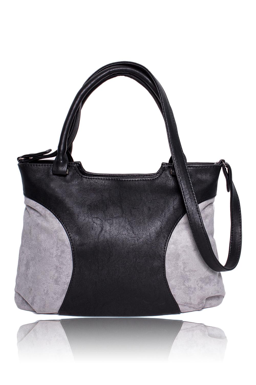 СумкаКлассические<br>Женские сумки бренда DINESSI - это стильные аксессуары, которые по достоинству оценят представительницы прекрасного пола.  Классическая сумка с застежкой на молнию, двумя короткими ручками и длинной лямкой. На задней части сумки карман на молнии. Внутри два накладных кармана и карман на молнии.   Цвет: черный, серый.  Размеры 35,5*25,5*12 ± 1 см Длина ручки - 43 ± 1 см Длина длинного ремня - 108 ± 1 см<br><br>По материалу: Замша,Искусственная кожа<br>По размеру: Средние<br>По рисунку: Цветные<br>По способу ношения: В руках,На запастье,На плечо,Через плечо<br>По степени жесткости: Мягкие<br>По типу застежки: С застежкой молнией<br>По элементам: Карман на молнии,Карман под телефон,С ремнями<br>Ручки: Длинные,Короткие,Регулируемые<br>По форме: Прямоугольные<br>Размер : UNI<br>Материал: Искусственная кожа + Искусственная замша<br>Количество в наличии: 1